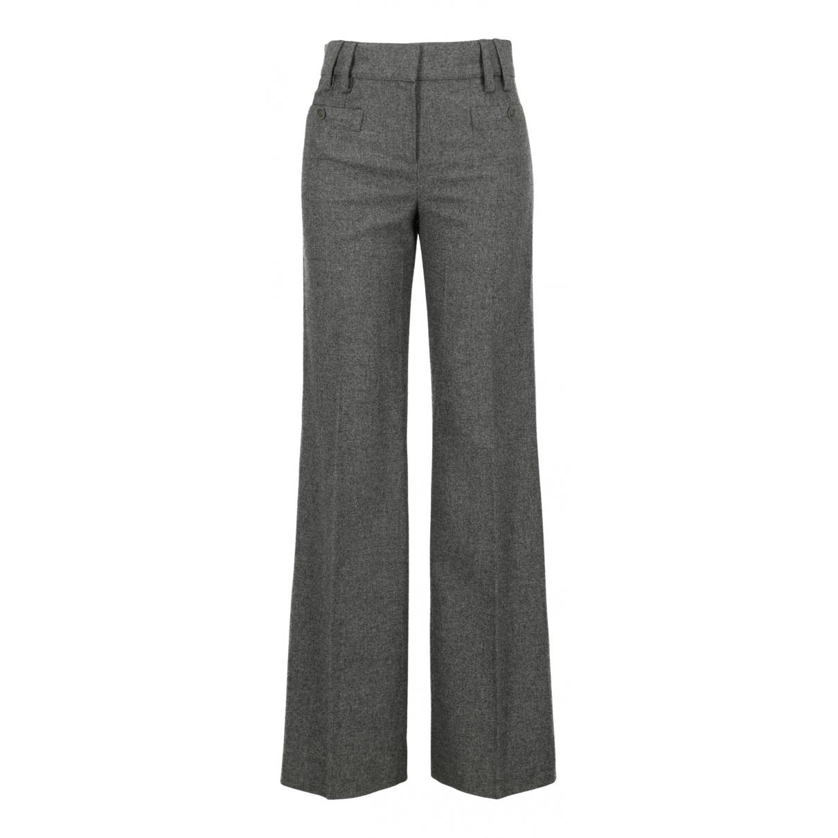 Chanel N Grey Wool Trousers for Women 36 FR