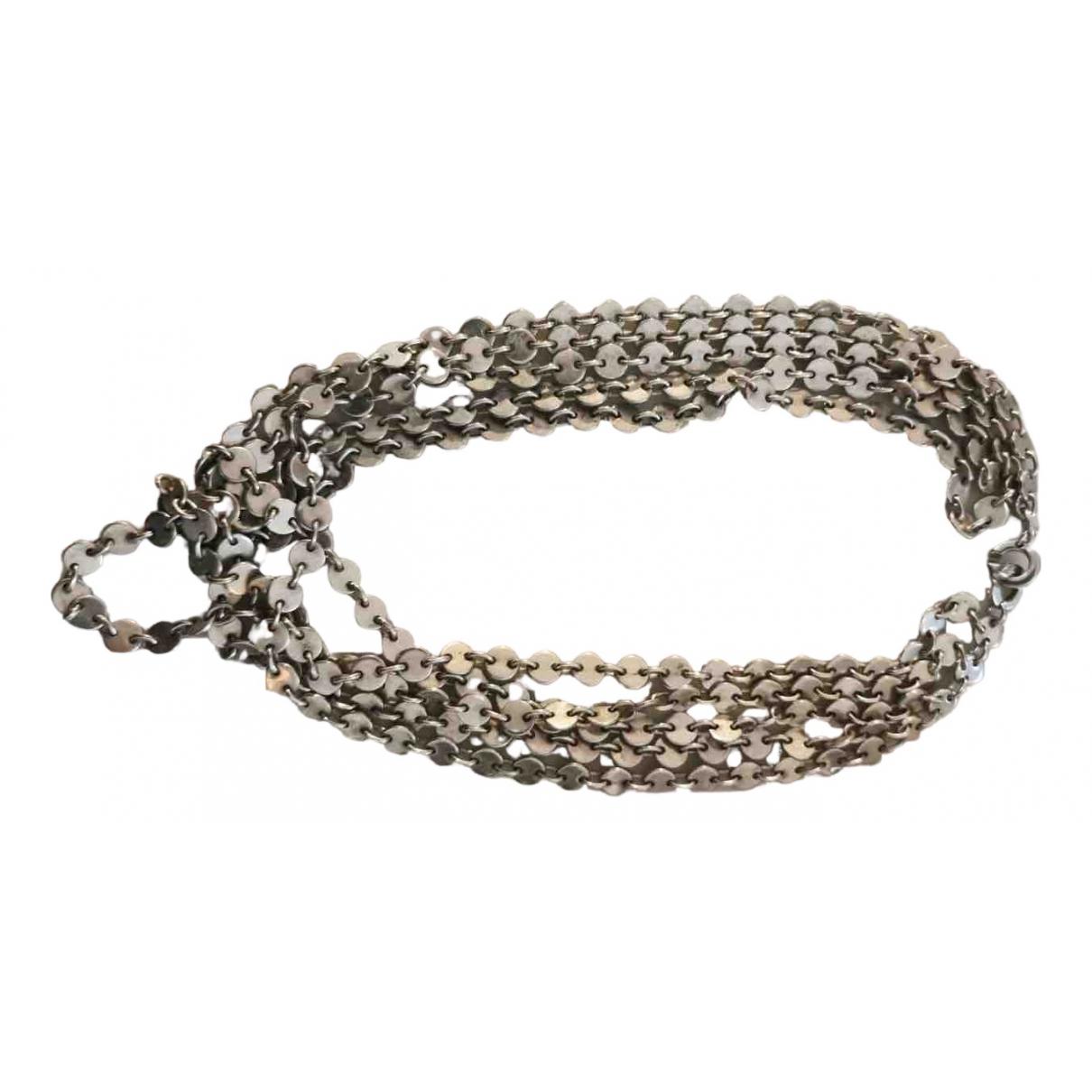 Hermes - Collier   pour femme en argent - gris