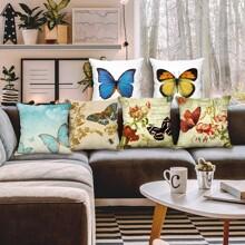 1 Stueck Kissenbezug mit Schmetterling Muster ohne Fuellstoff