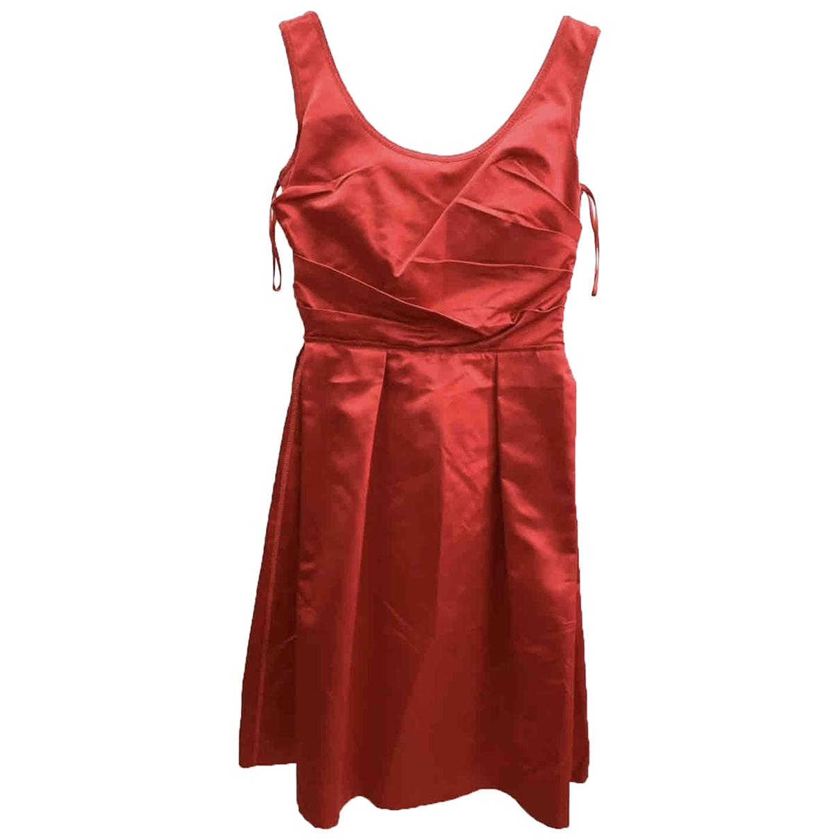 Prada \N Red Silk dress for Women 38 IT