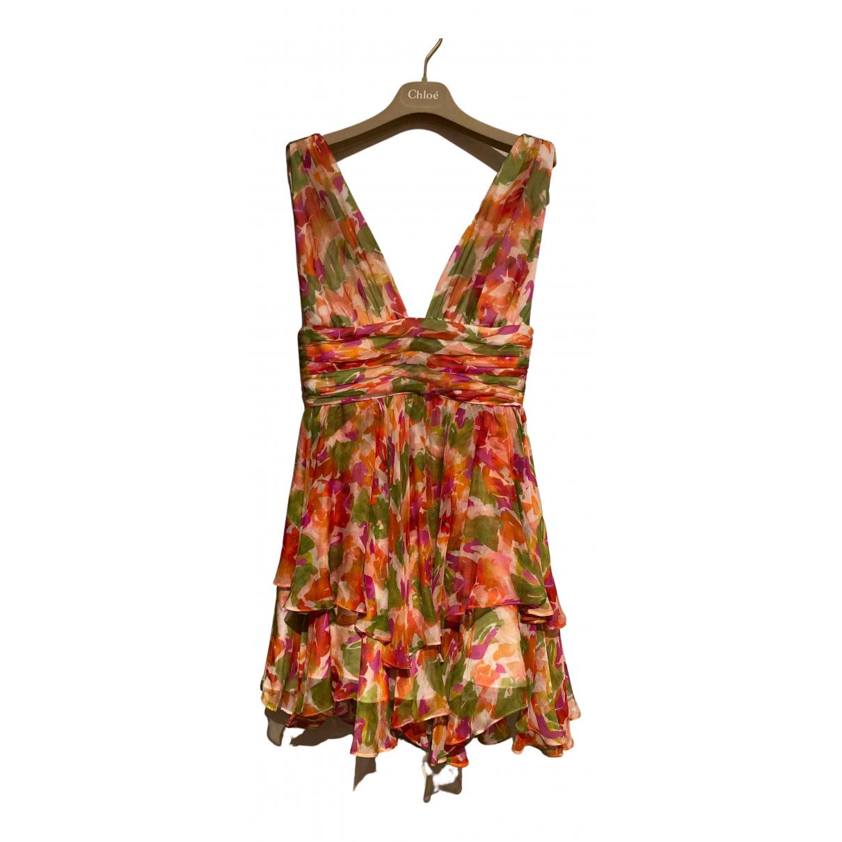 Caroline Constas - Robe   pour femme en soie - orange
