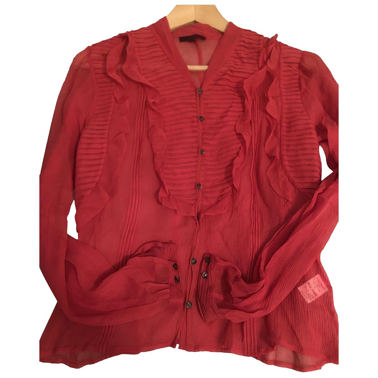 Kenzo - Top   pour femme en soie - rouge
