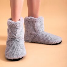 Faux Fur High Top Slippers