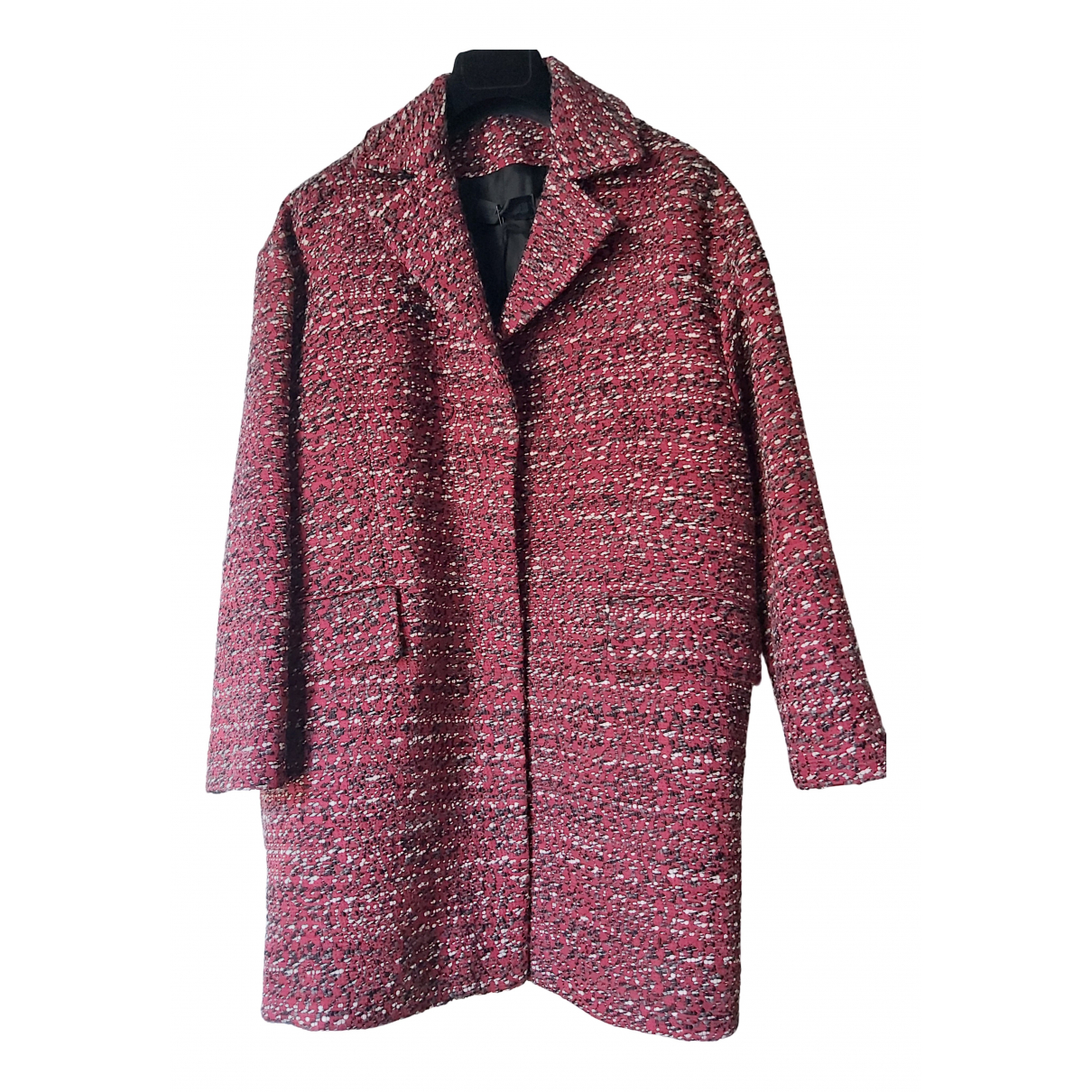 Non Signé / Unsigned N Red Wool coat for Women 40 IT