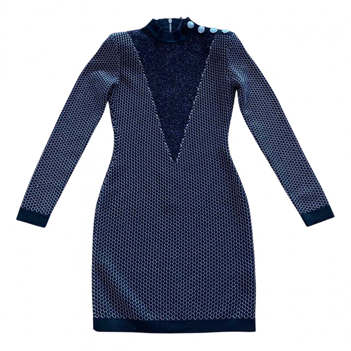 Balmain N Blue Wool dress for Women 36 FR
