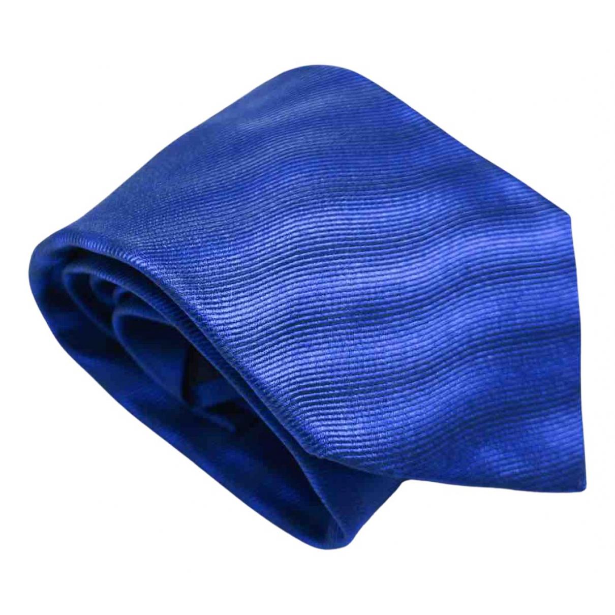 Kiton - Cravates   pour homme en soie - bleu