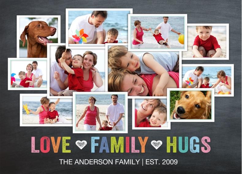 Family 10x14 Custom Puzzle, Gift -Family Love Hugs Collage by Tumbalina