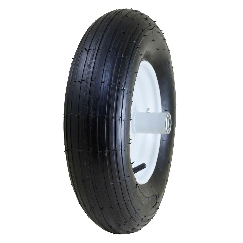 Marathon Industries 20001 8-inch Pneumatic Wheelbarrow Tire W/Ribbed Tread 6-inch Centered Hub (Wheelbarrows)