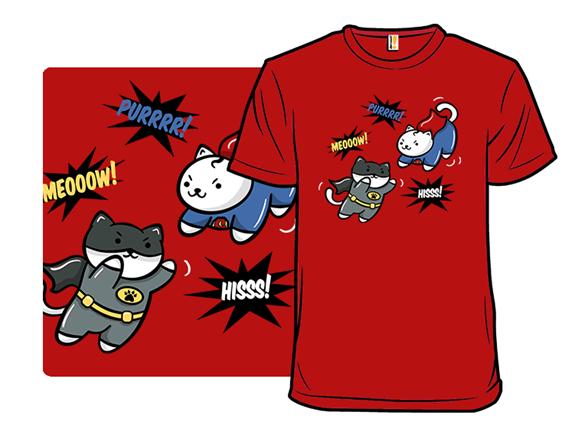 Batcat Vs. Supercat: The Meow Of Justice T Shirt