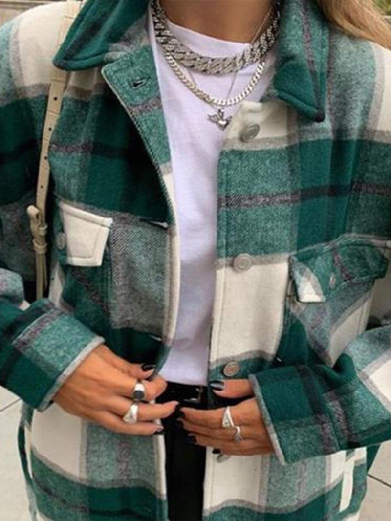 Ericdress Single-Breasted Long Sleeve Loose Mid-Length Fall Jacket