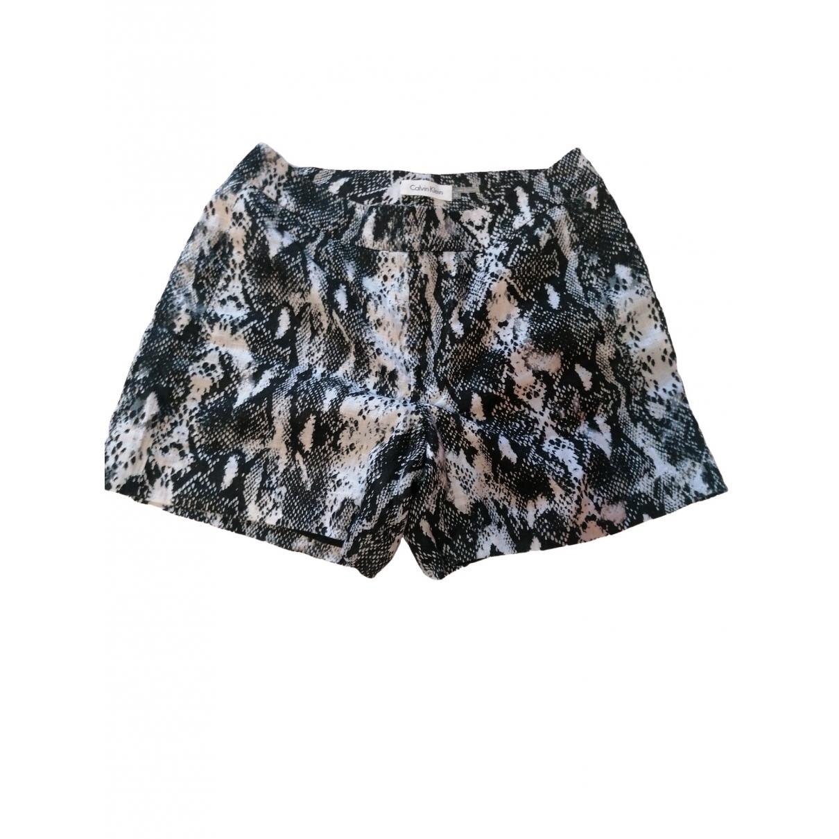Calvin Klein \N Shorts in  Schwarz Baumwolle