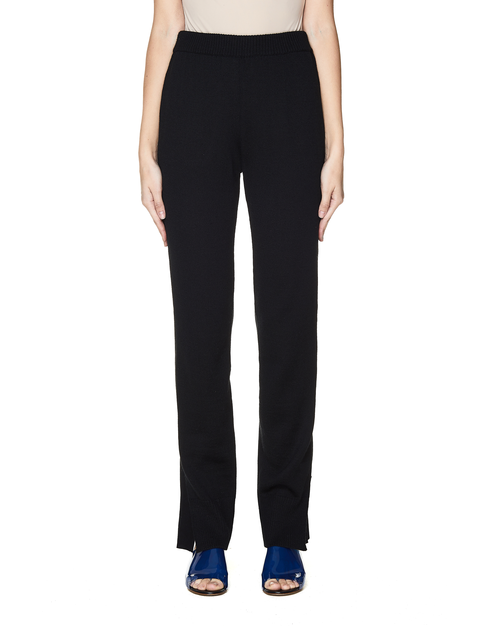 Undercover Black Knitted Front Trousers