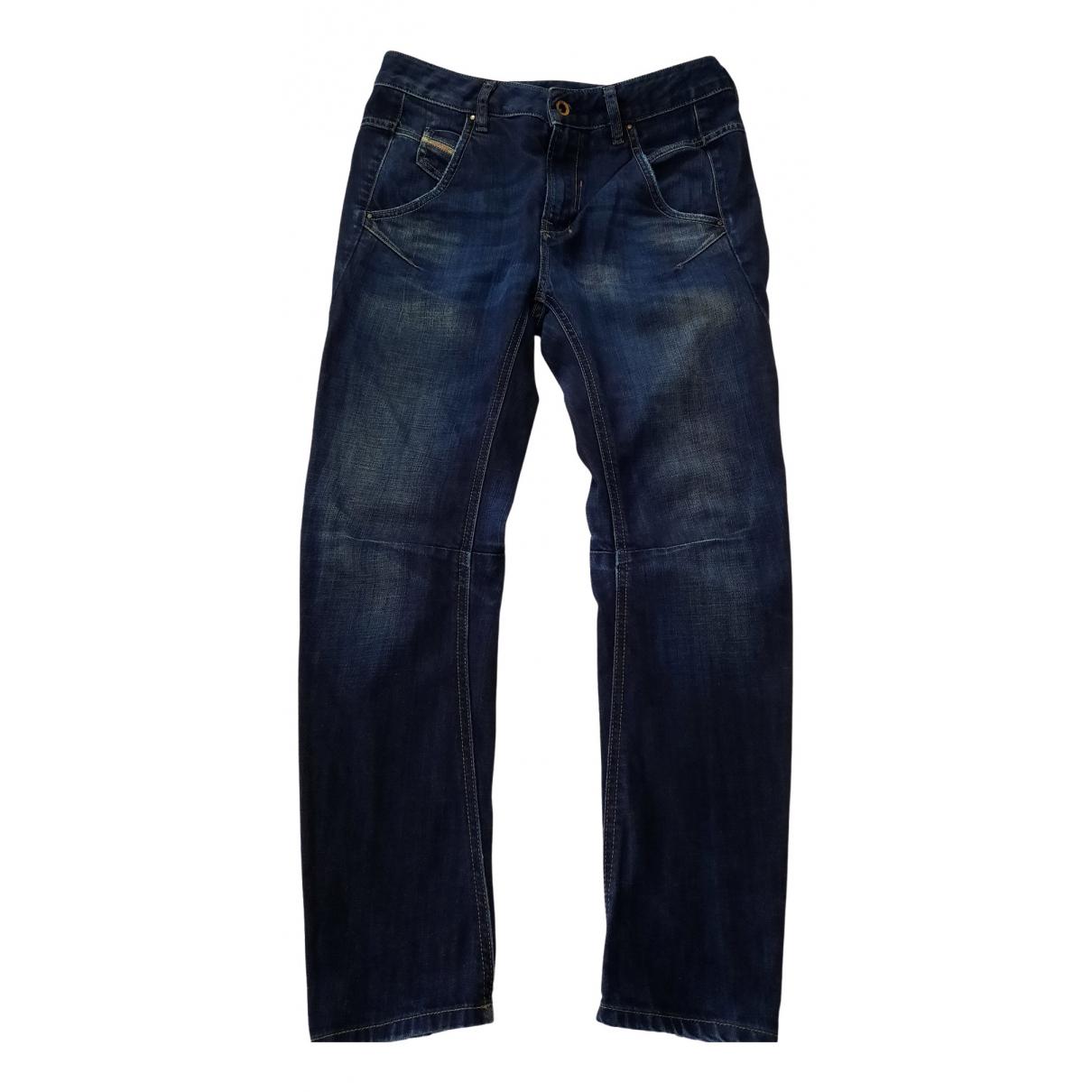 Diesel - Jean   pour femme en coton - marine