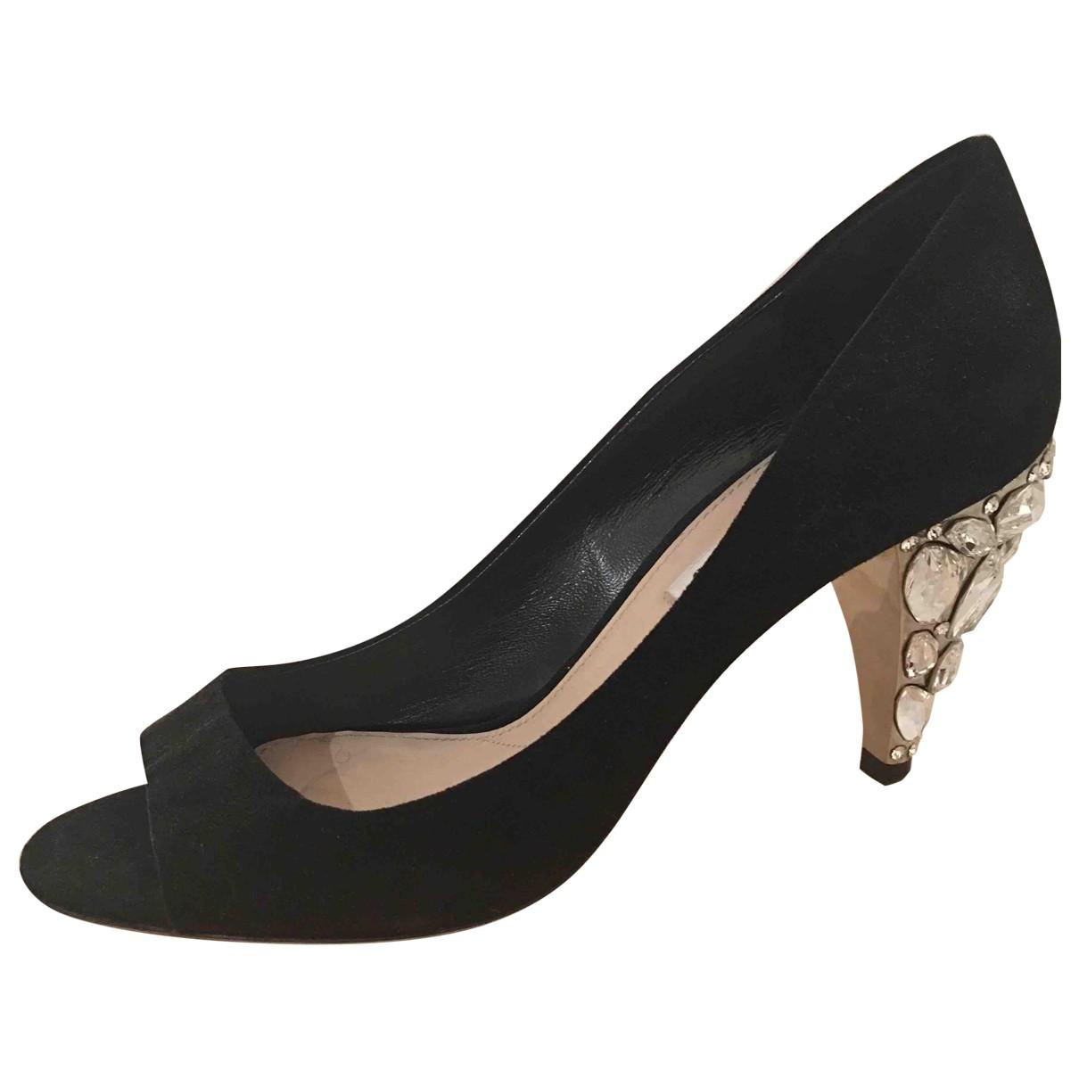 Miu Miu \N Black Suede Heels for Women 39 IT