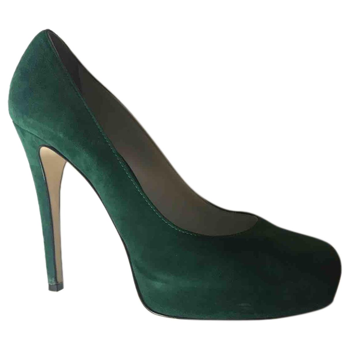 Dolce & Gabbana - Escarpins   pour femme en suede - vert