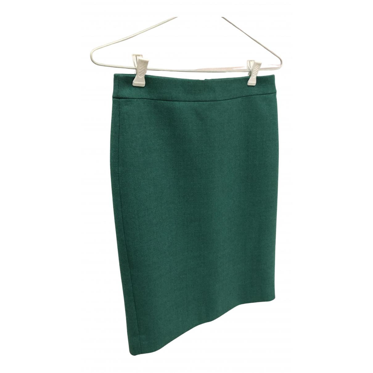 J.crew N Green Wool skirt for Women 0 0-5