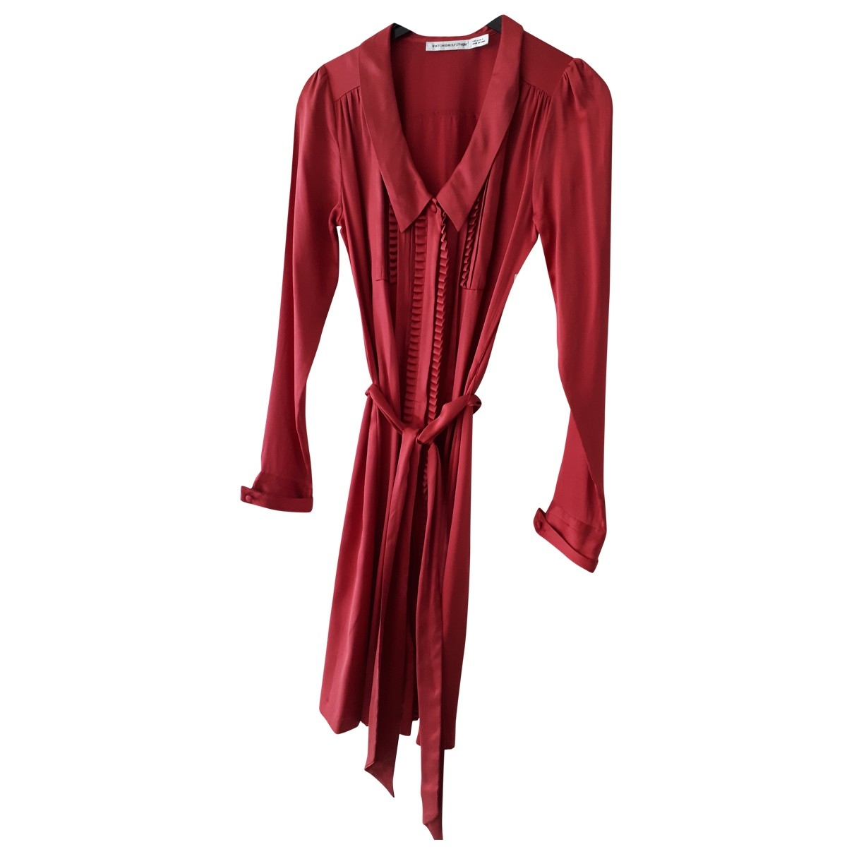 Viktor & Rolf By H&m - Robe   pour femme en soie - rouge