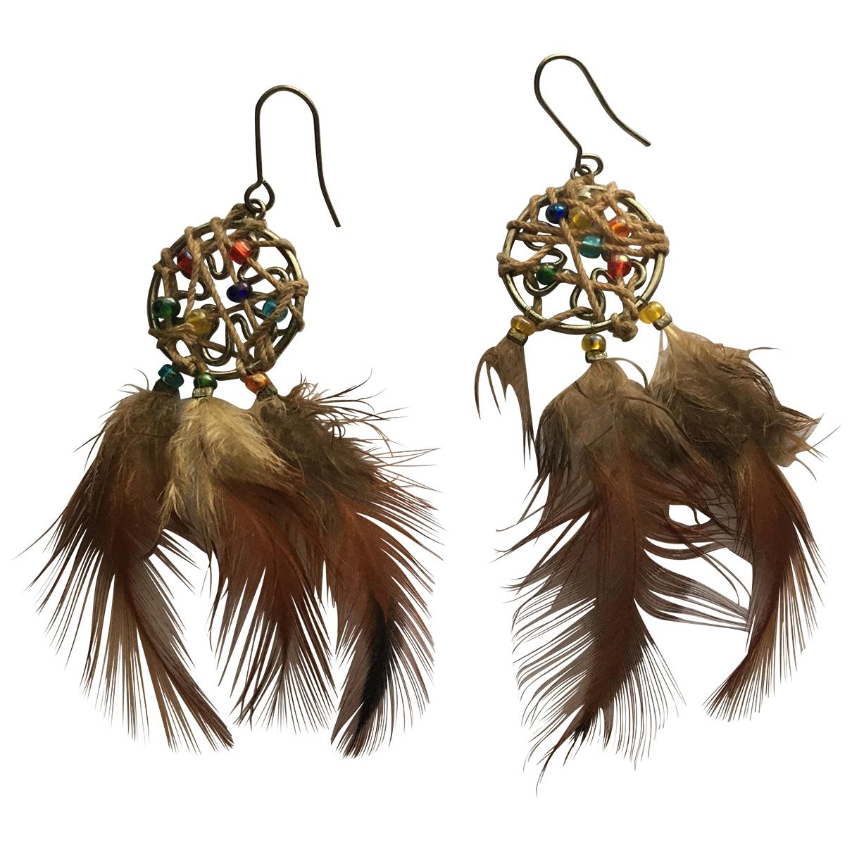 - Boucles doreilles Motifs Ethniques pour femme en metal - multicolore