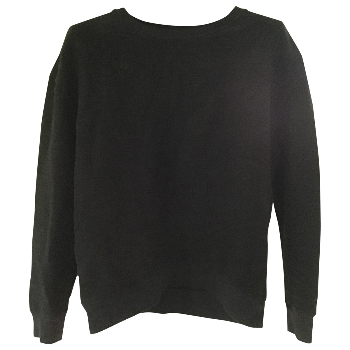 Majestic Filatures - Pull   pour femme en coton - noir