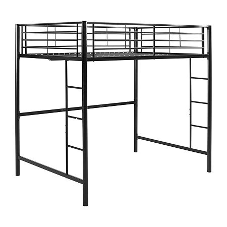Pearson Full Bunk Bed Over Loft, One Size , Black