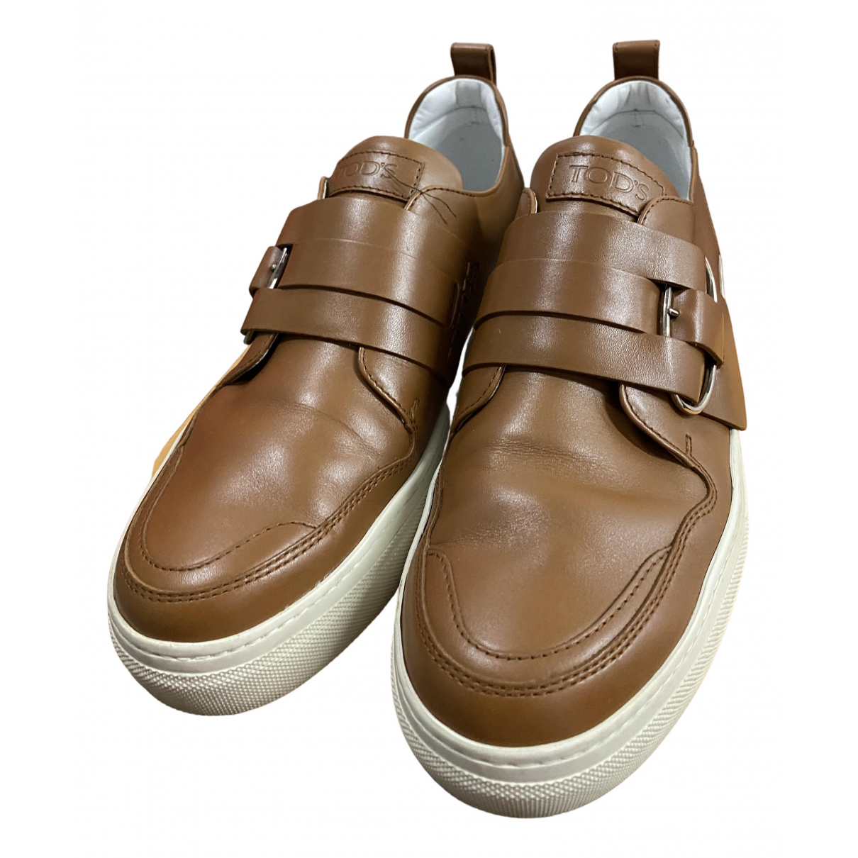 Tod's N Brown Leather Trainers for Men 39.5 EU