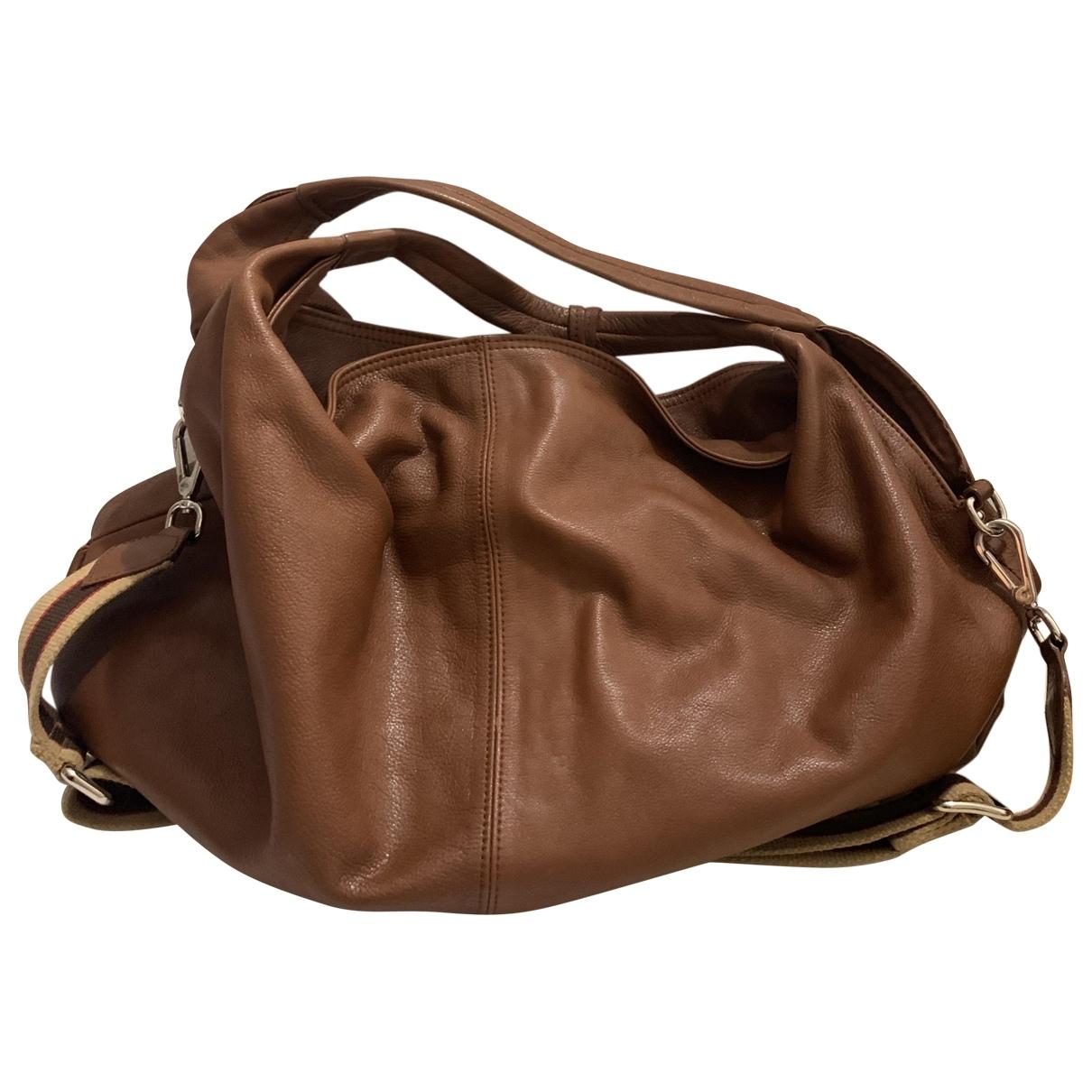 Furla \N Handtasche in  Braun Leder