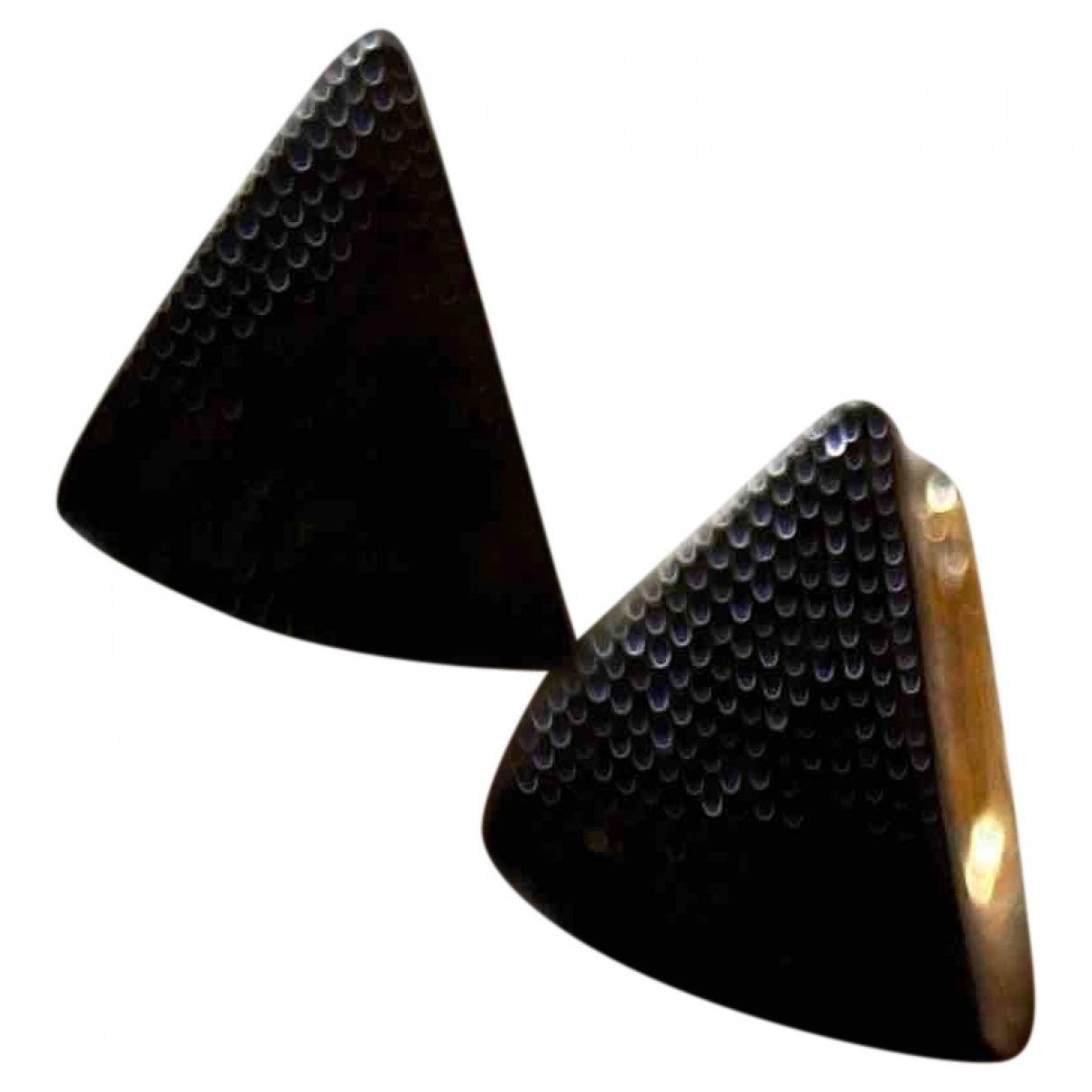 - Boucles doreilles   pour femme en acier - noir