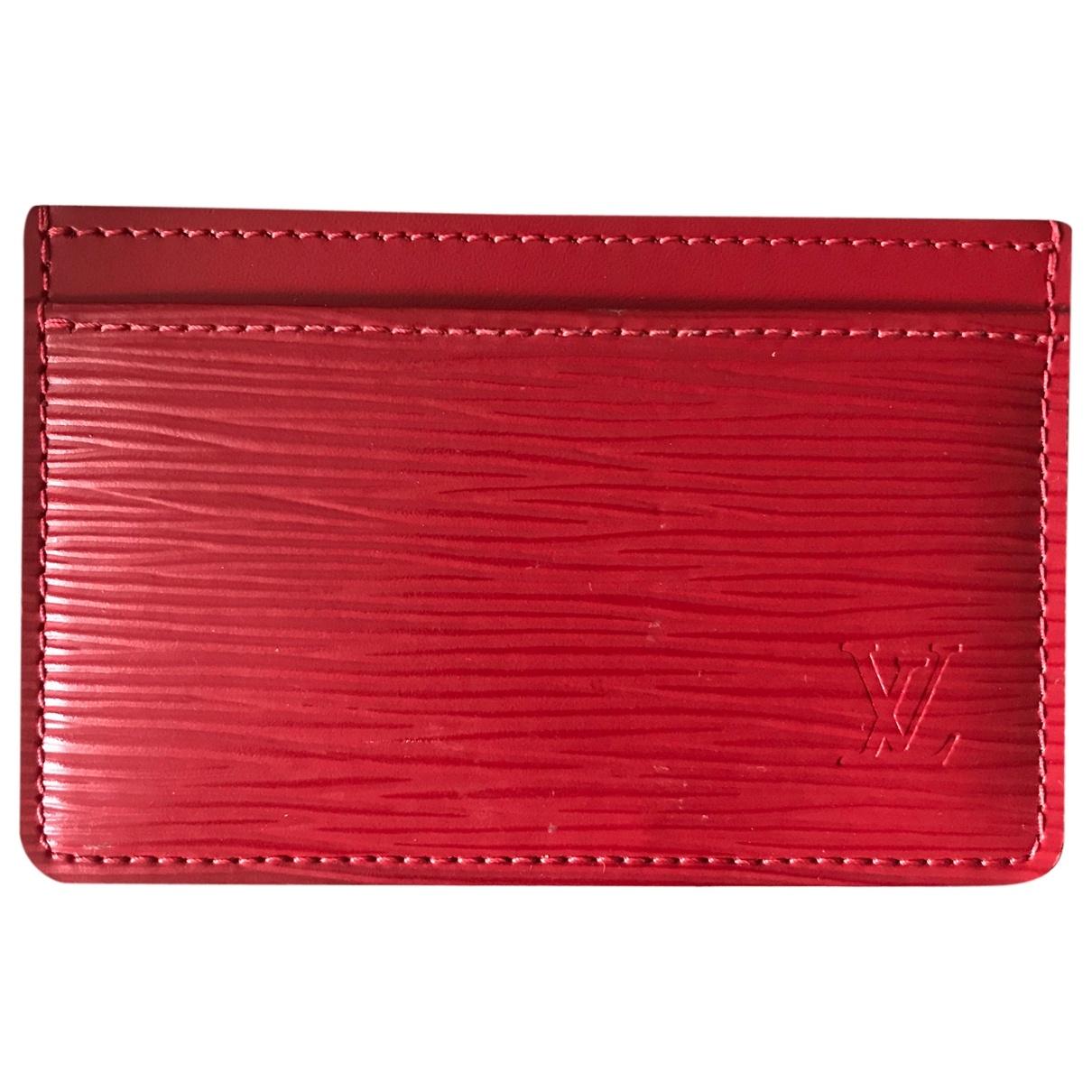 Louis Vuitton - Petite maroquinerie   pour homme en cuir - rouge