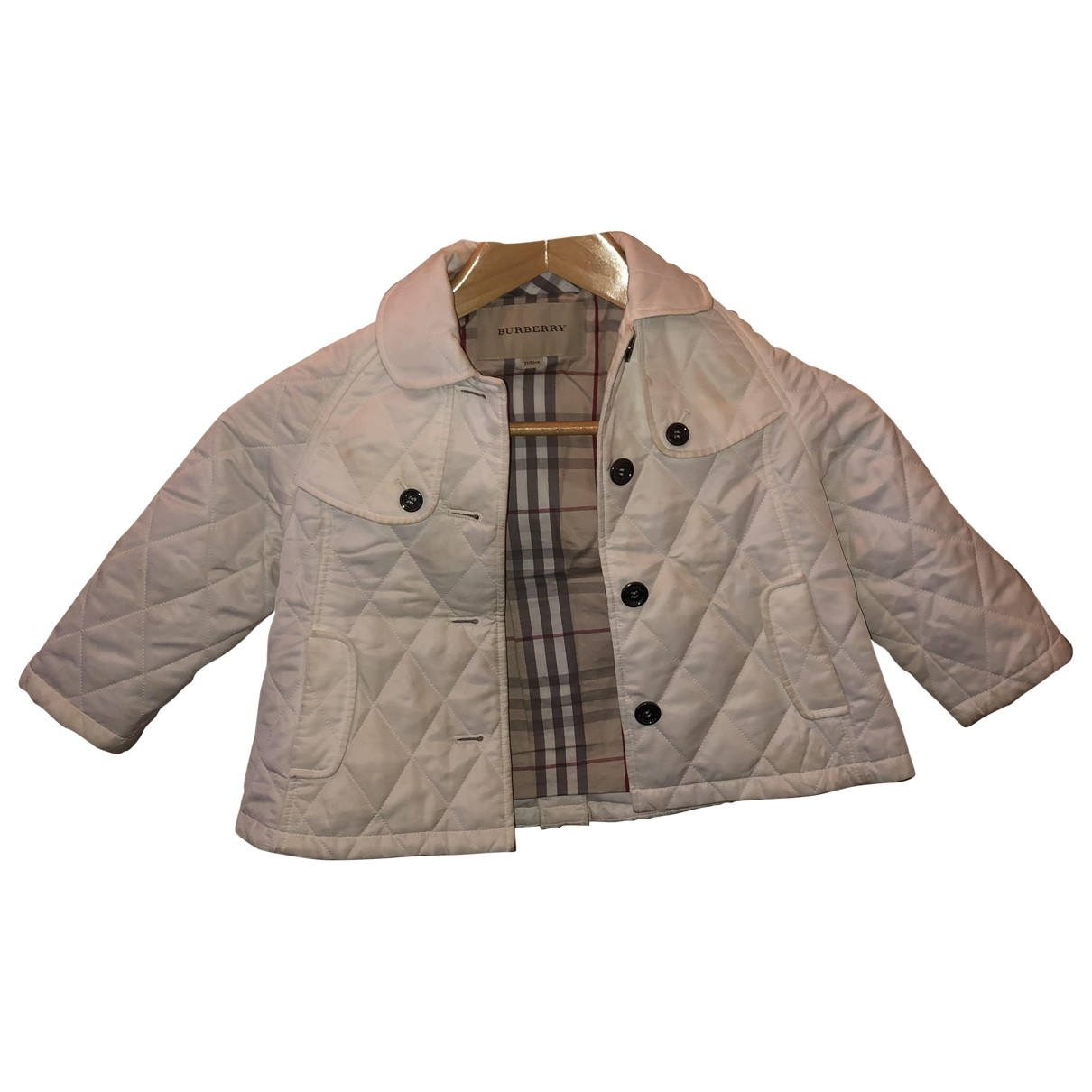 Burberry \N White Cotton jacket & coat for Kids 2 years - up to 86cm FR