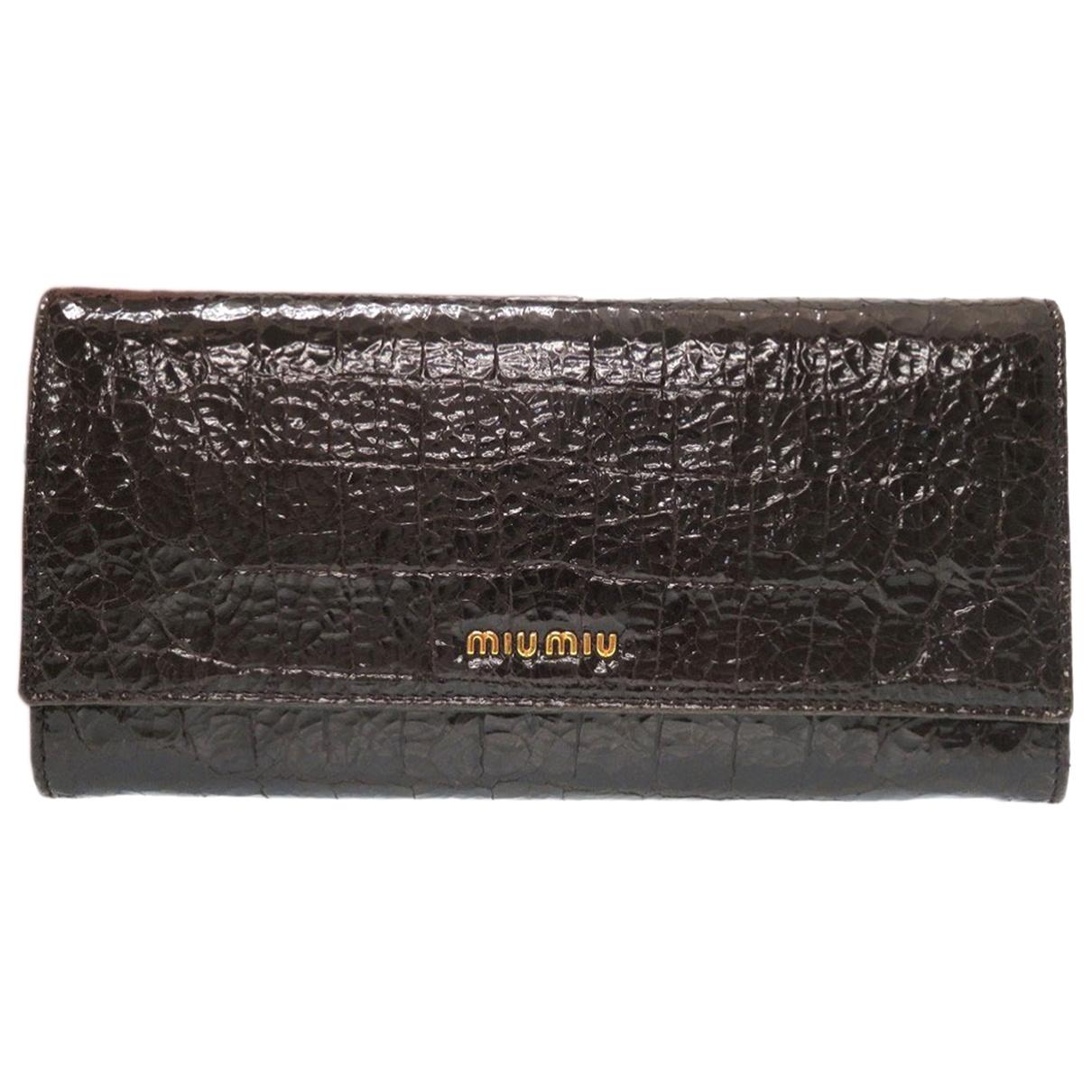 Miu Miu \N Brown Patent leather wallet for Women \N