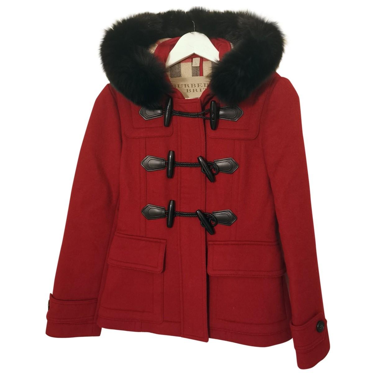 Burberry \N Red Fur coat for Women 4 UK
