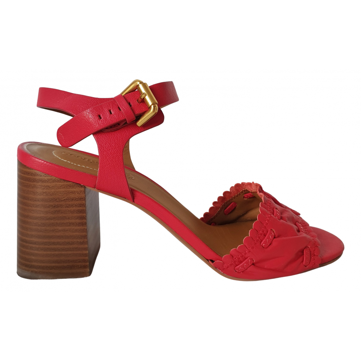 See By Chloé \N Red Leather Sandals for Women 40 EU