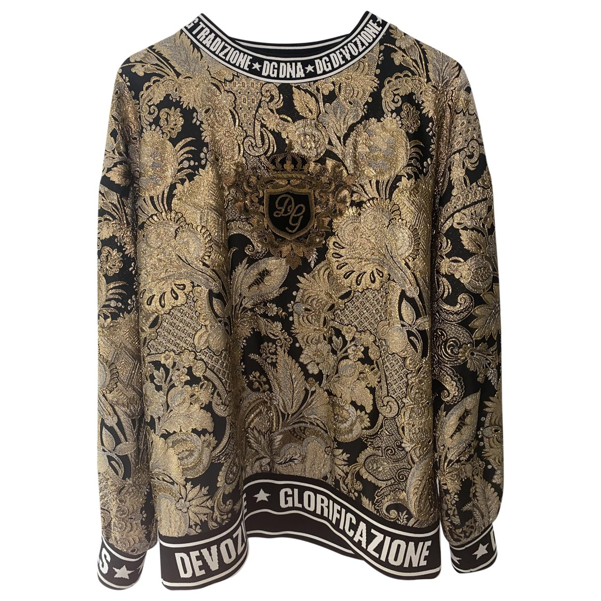 Dolce & Gabbana \N Pullover.Westen.Sweatshirts  in  Gold Polyester