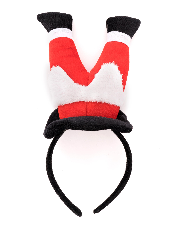 Kostuemzubehor Haarreif Weihnachtsmann Beine Farbe: schwarz/weiss/rot