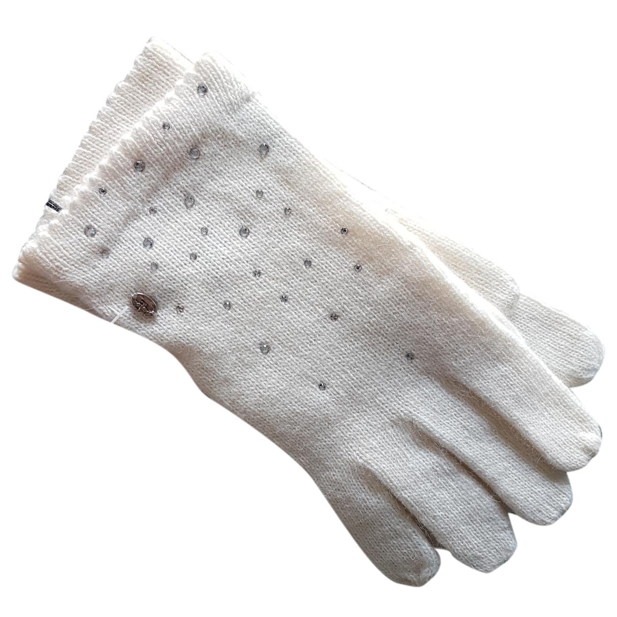 - Gants   pour femme en laine - blanc