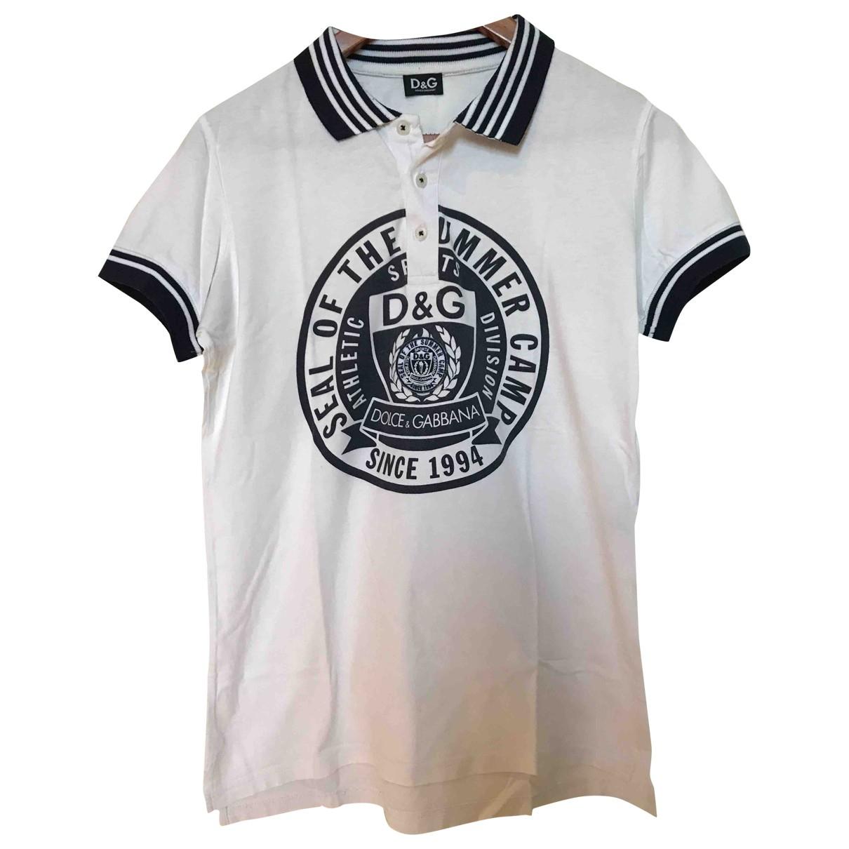 D&g - Polos   pour homme en coton - blanc