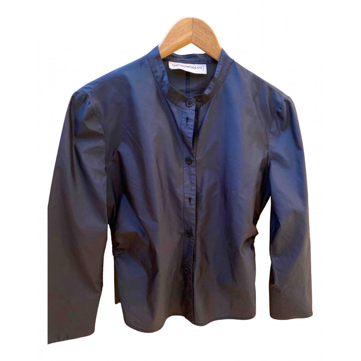 Emporio Armani \N Jacke in  Blau Seide
