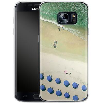 Samsung Galaxy S7 Silikon Handyhuelle - Beach Umbrellas von Joy StClaire