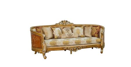 Luxor Collection II Luxury Sofa  Hand Made & Hand Carved into Mahogany Wood Solid  in Brown Gold