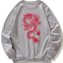 Sudadera con estampado de dragon chino