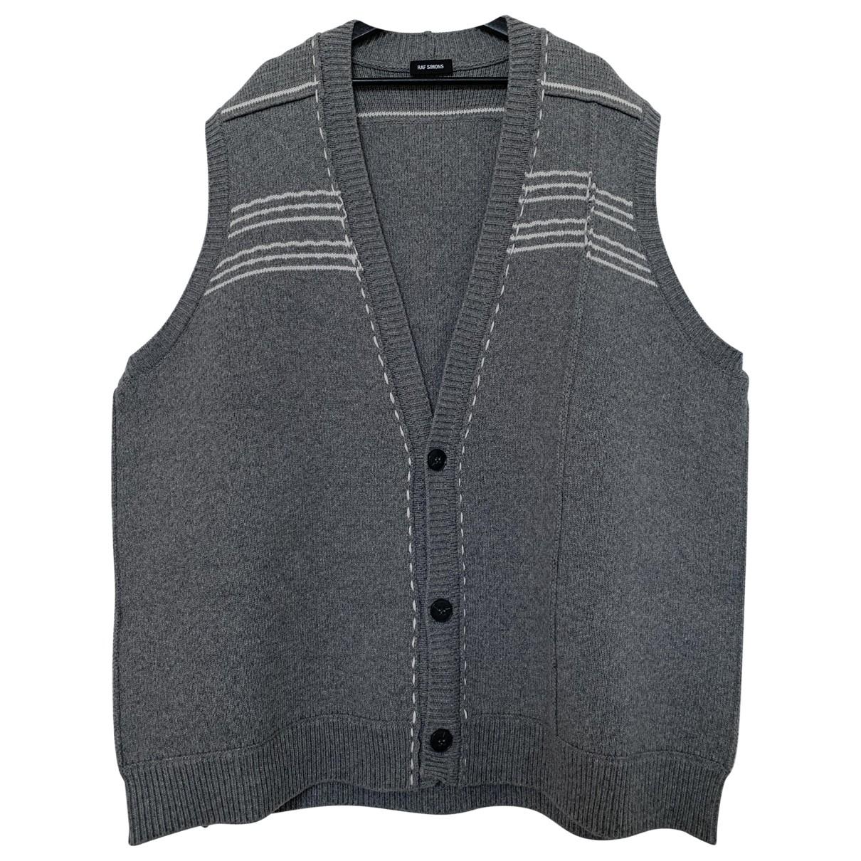 Raf Simons - Pulls.Gilets.Sweats   pour homme en laine - gris
