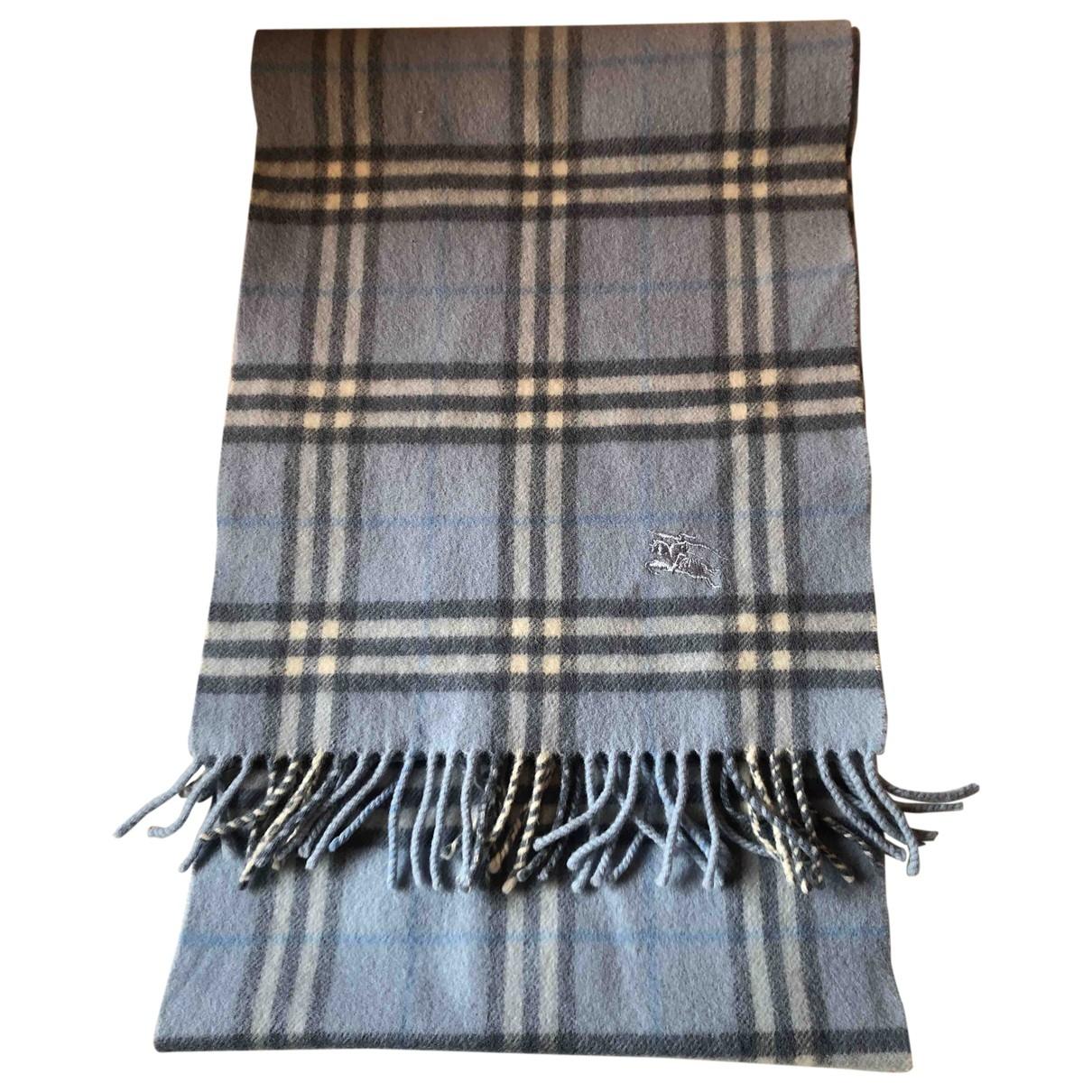 Burberry \N Blue Wool scarf & pocket squares for Men \N
