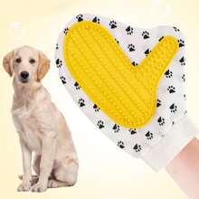 1pc Paw Print Dog Bathing Massage Glove