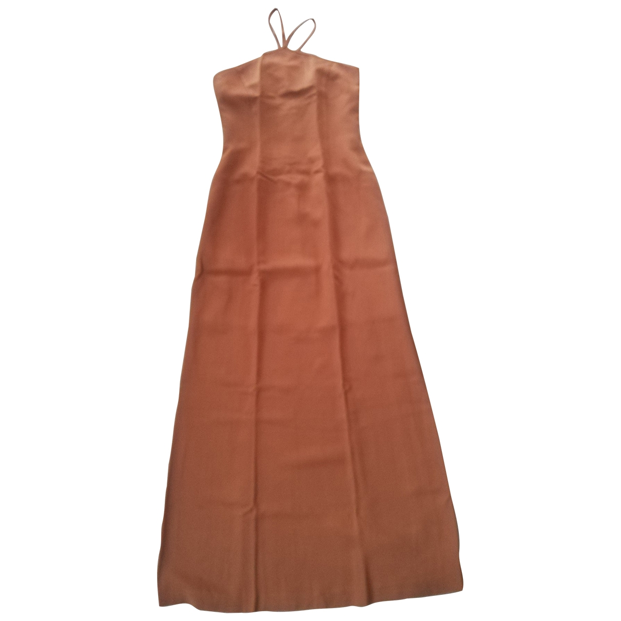 Non Signé / Unsigned \N Camel dress for Women 40 IT
