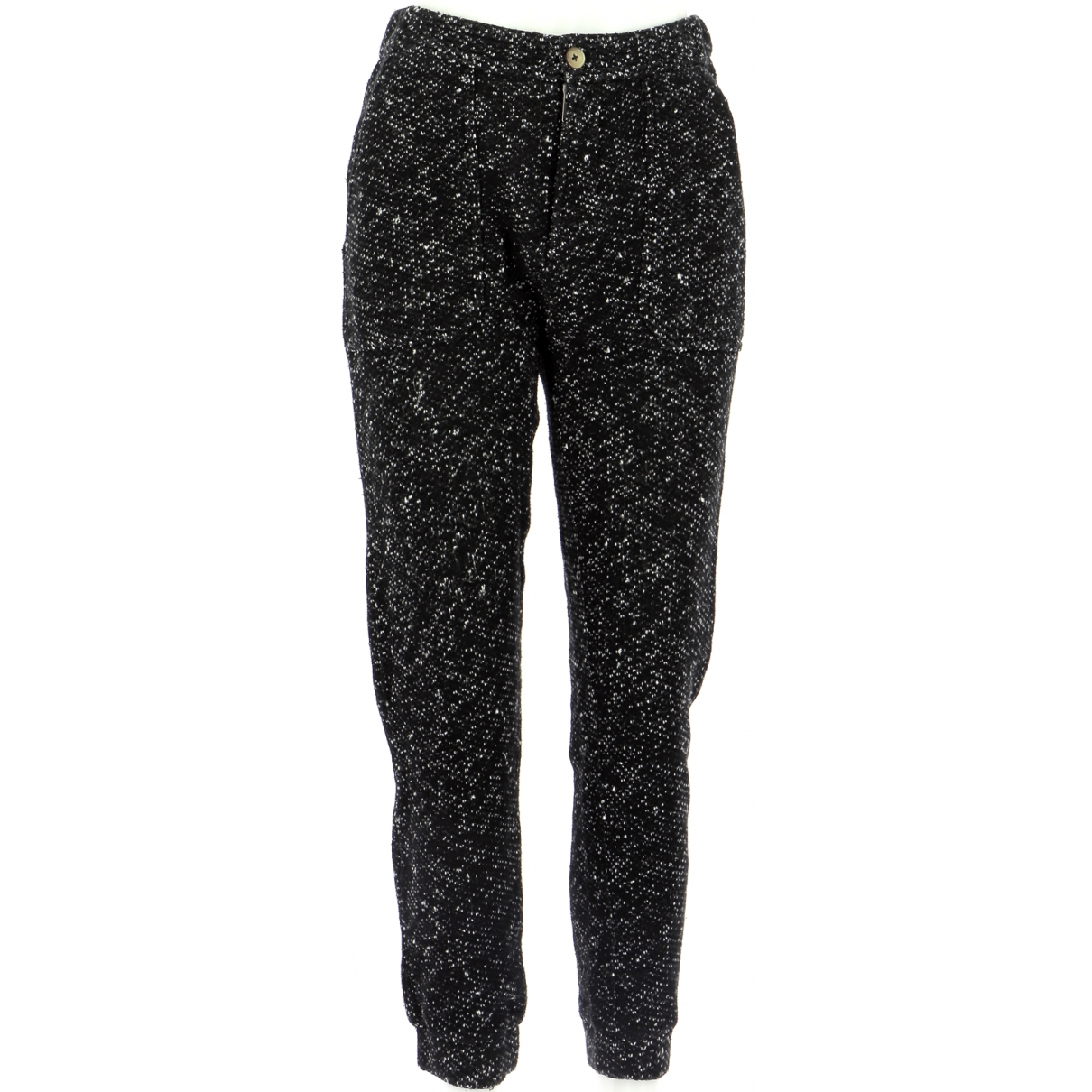 Pantalones en Algodon Negro Leon & Harper