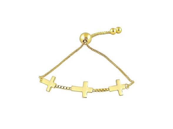 Charmsy Sterling Silver Cross Bracelet
