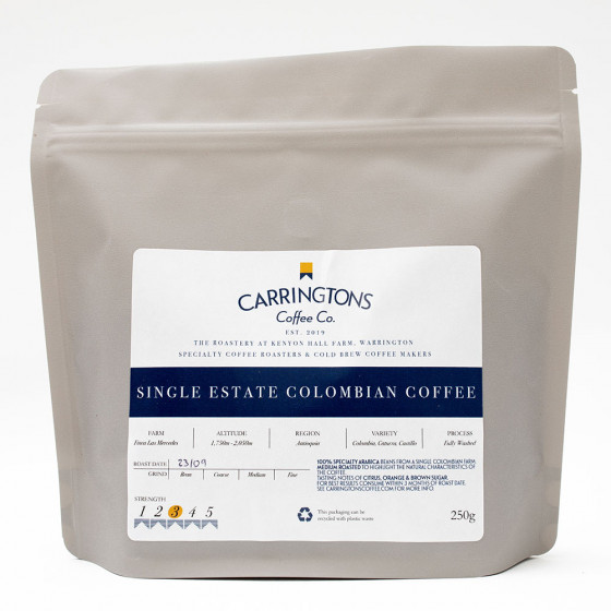 Ground coffee Carringtons Coffee Co. Colombia Single Estate, 2x250 g