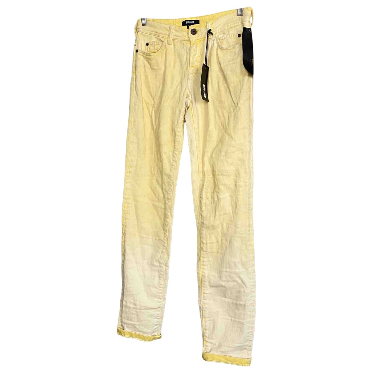 Just Cavalli \N Yellow Cotton - elasthane Jeans for Women 26 US