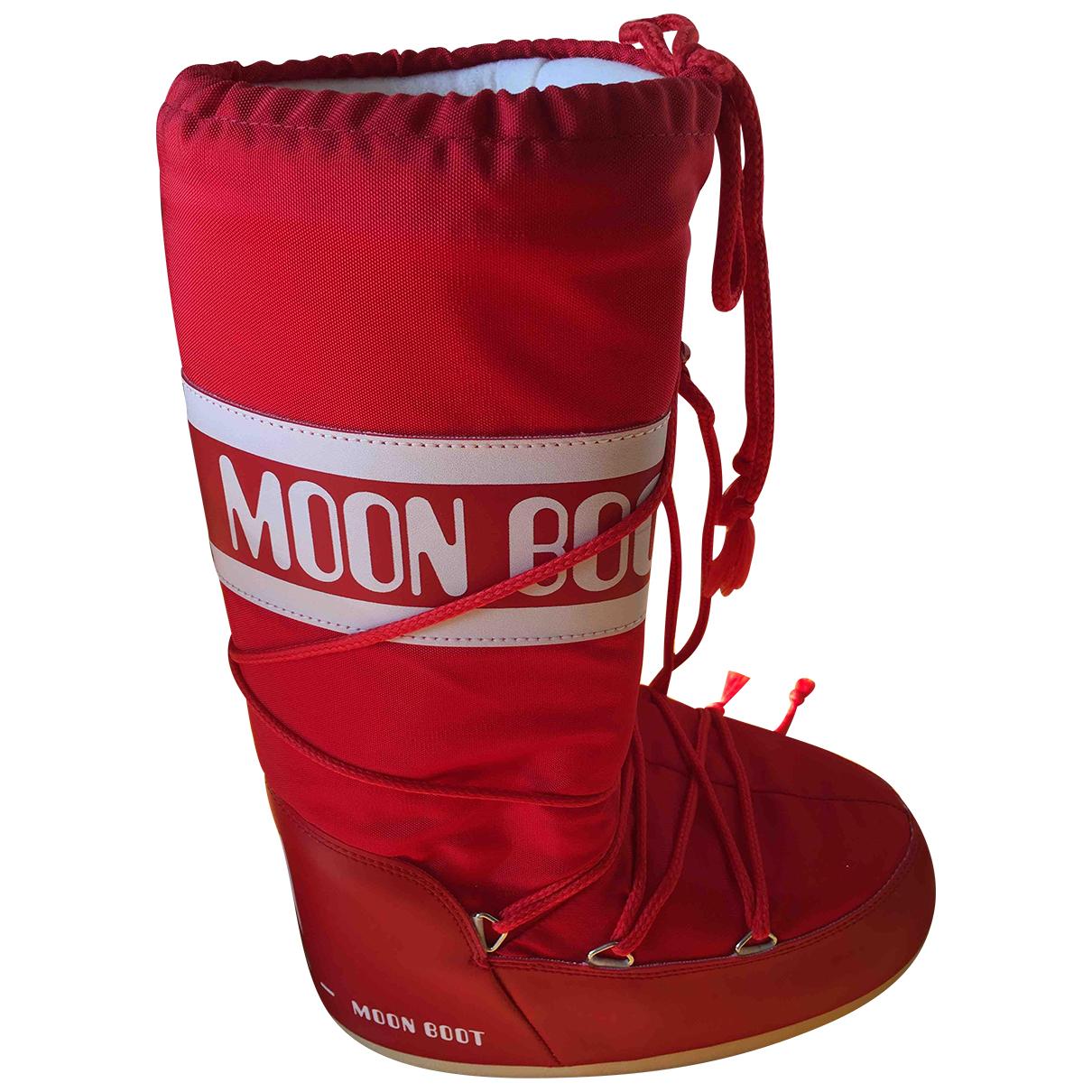Moon Boot - Bottes   pour femme en toile - rouge