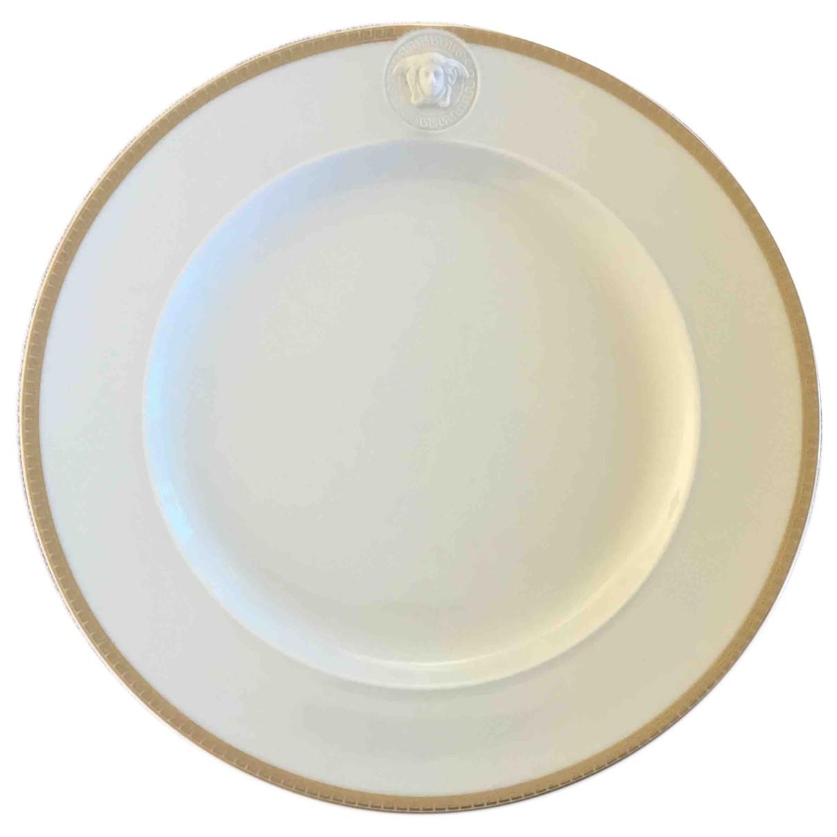 Versace \N White Porcelain Dinnerware for Life & Living \N